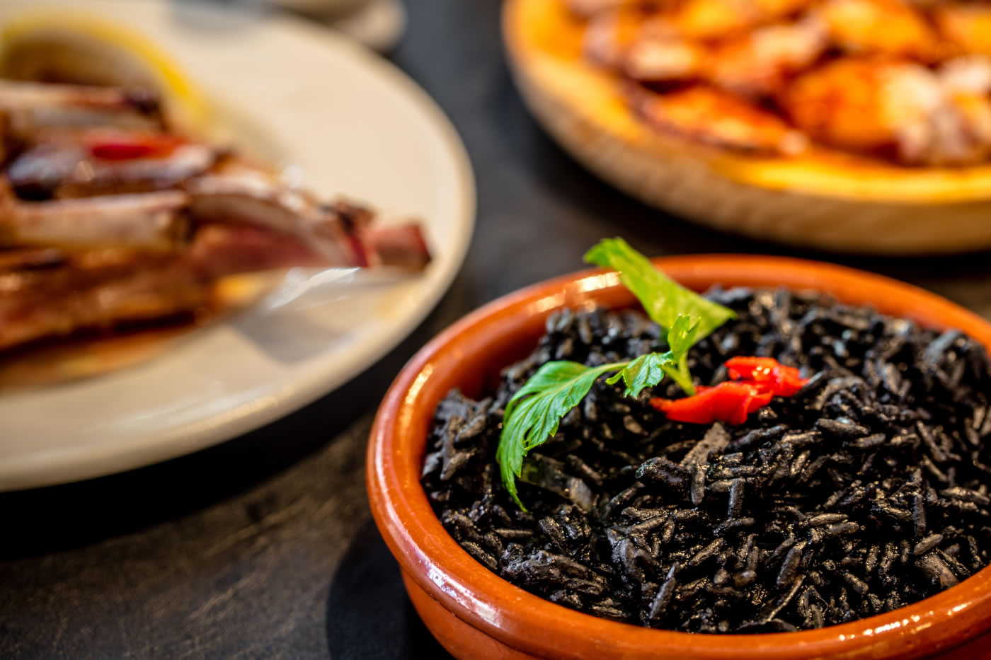 tapas dishes black rice